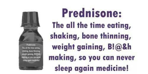 prednisone and weight gain in one week