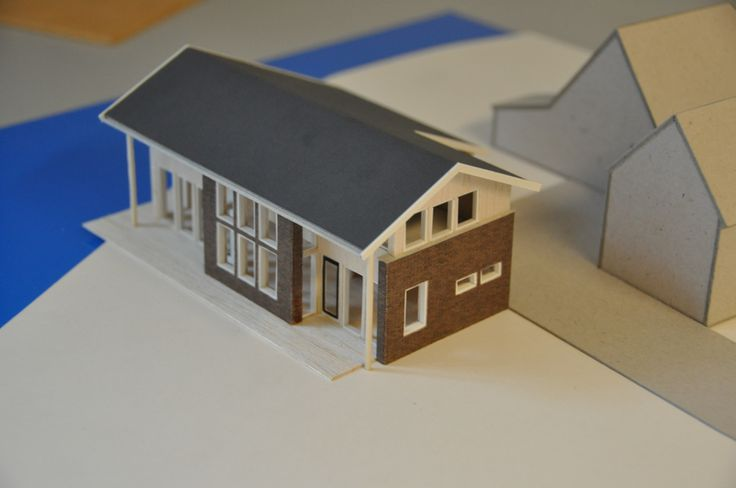 Staalframe woning maquette