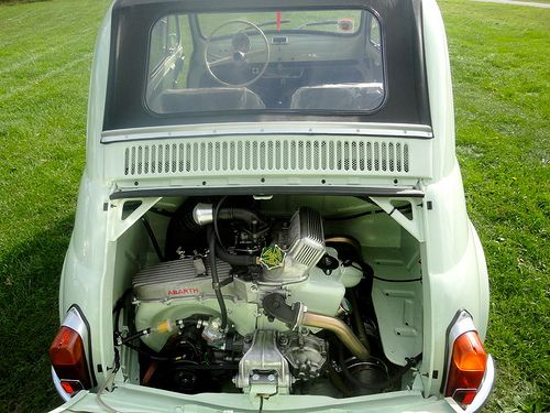 Fiat 500 D Model 1964 Suicide Door in Pastel Green from RICAMBI FIAT 500 SPARE PARTS