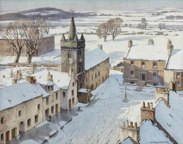 Charles Oppenheimer - Kirkcudbright Under Snow, 1934