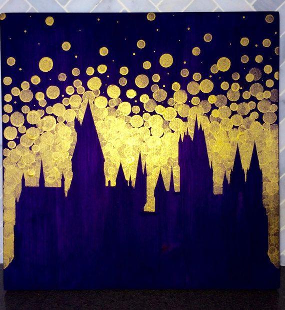 Hogwarts Castle Painting / / Harry Potter von GreenOnTheVineDesign