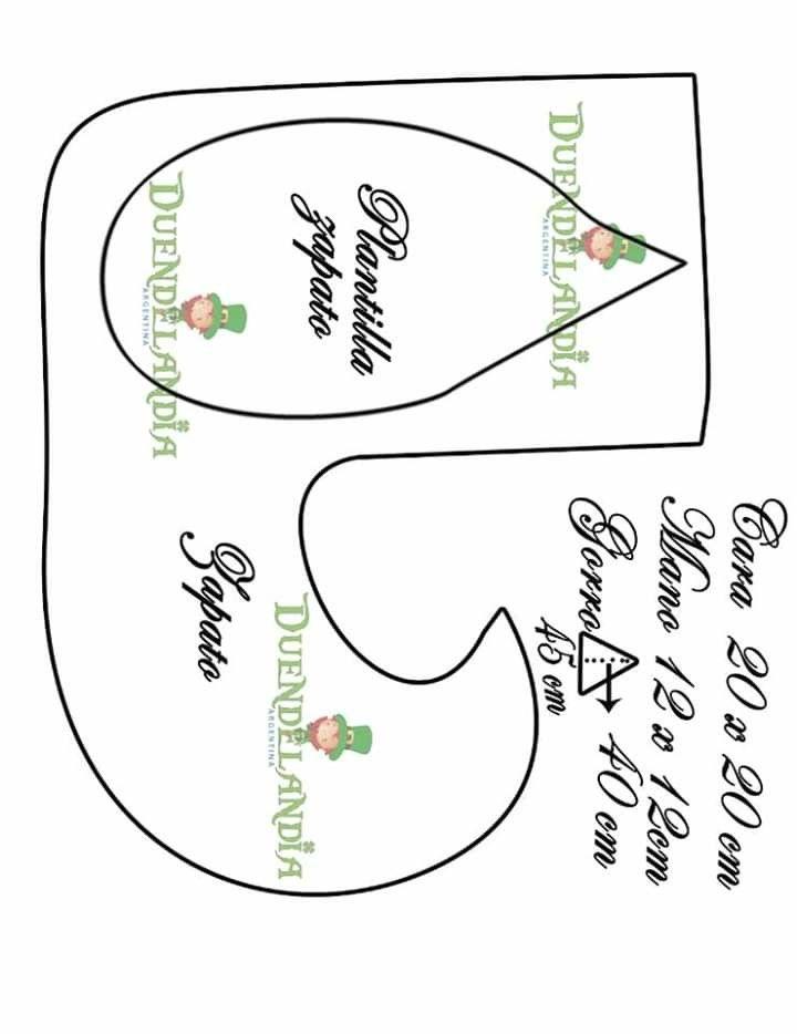Pin De Pauly Taipe En Munecos Country2 Zapatos De Duende Duendes Patrones