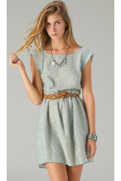 Mint Woven Shaggy Dress