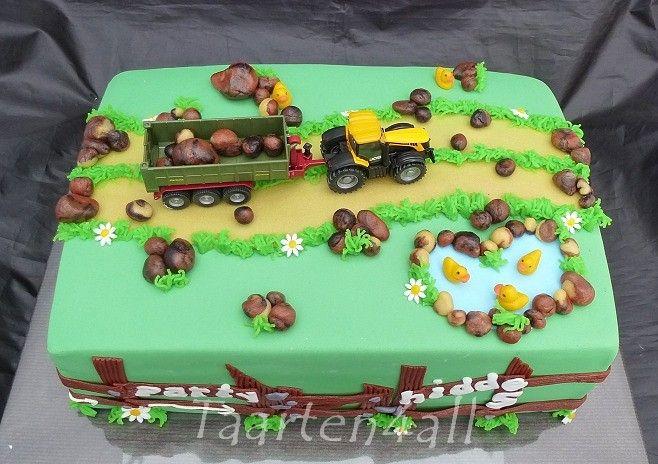 Tractor taart voor Hidde.