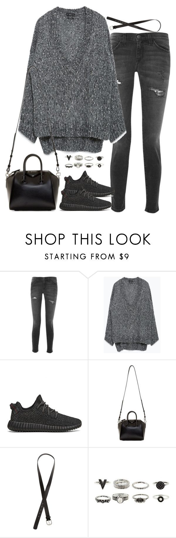 """Untitled#3775"" by fashionnfacts ❤ liked on Polyvore featuring Current/Elliott, Zara, adidas Originals, Givenchy and H&M"