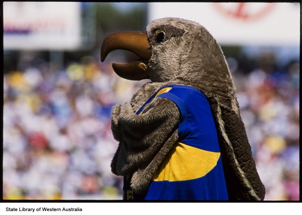 West Coast Eaglesmascot, May 1993 (Click to View)
