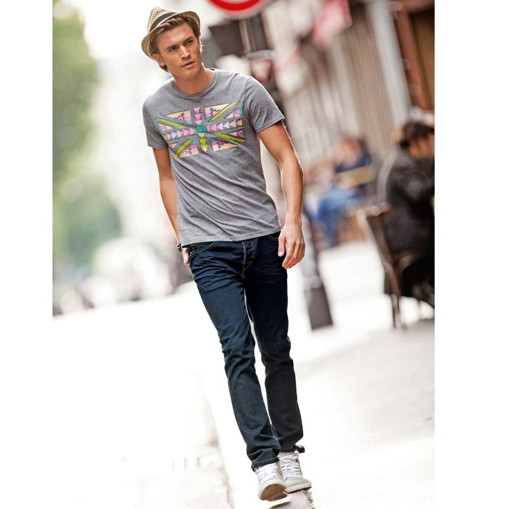 Tipster | Short-Sleeved Printed T-Shirt   Love the fedora :)