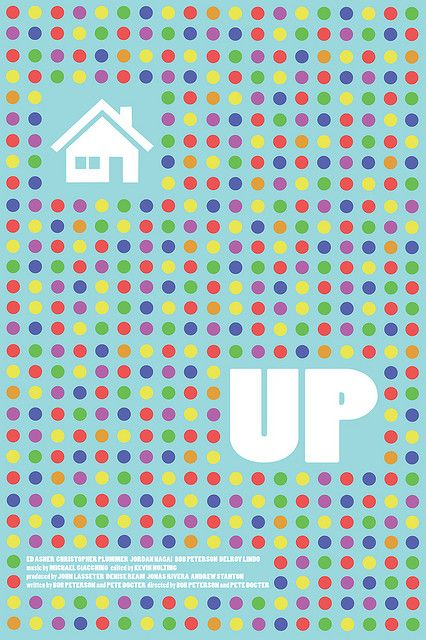 Up Movie Poster, via Minimalist Movie Posters
