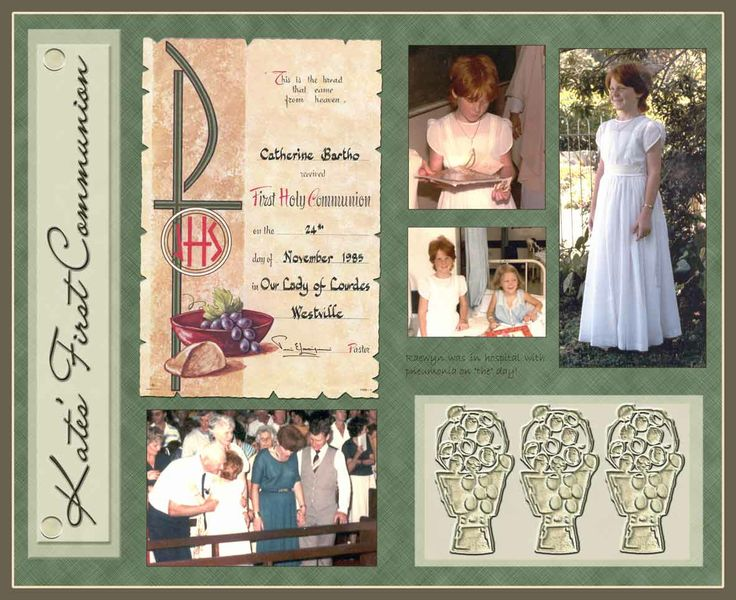 first communion scrapbooking ideas | First-Communion-Kate - Digital Scrapbook Place Gallery