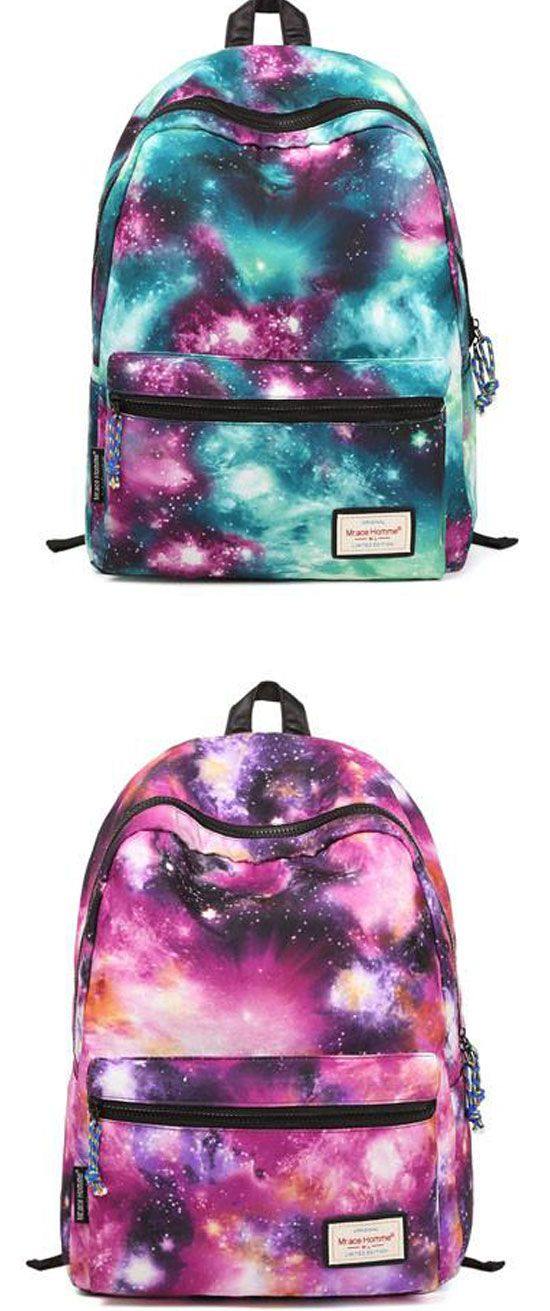 f90999c7fe48 Fashion Galaxy Shining Girls School Canvas Backpacks  backpack  galaxy   school  college  bag