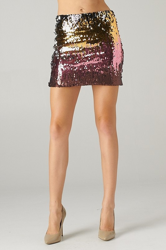 Lavishville - Multicolor Sequins Mini Skirt (Pink Gold), $27.00 (http://www.lavishville.com/multicolor-sequins-mini-skirt-pink-gold/)