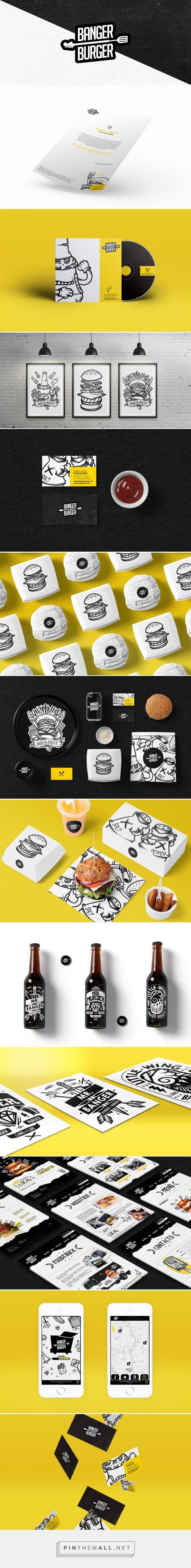 Banger Burger Restaurant Branding by Kevin Huarac                                                                                                                                                                                 Más