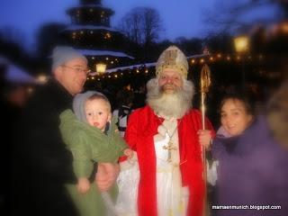 Nikolaustag - El día de San Nicolás (Christkindlmarkt en Chinesischer Turm)