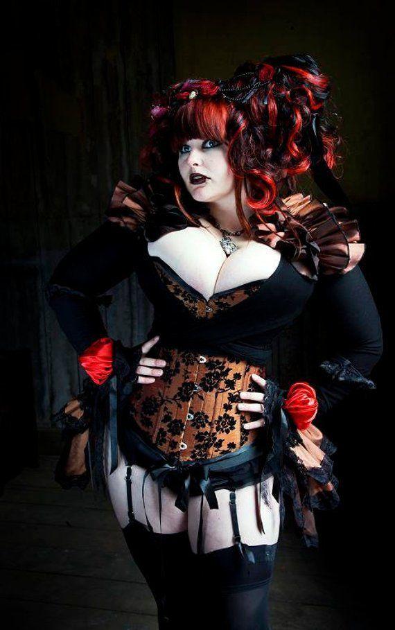 PLUS SIZE Steampunk Diva BURLESQUE Bustle Skirt and Shrug Set goth Steampunk 2b552180d9e2