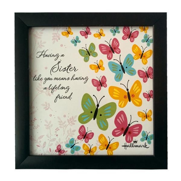 Desk Quotation For Best Sister  Having A Sister like you means having a lifelong friend. | Rs. 274 | Shop Now | https://hallmarkcards.co.in/collections/rakhi-gifts/products/desk-quotation-for-best-friend-sister