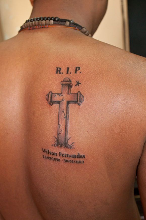 Rip Cross Dad Tattoo On Back Shoulder Sick Ink Pinterest