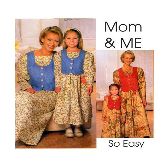Mother & Daughter matching loose fit dress by FindCraftyPatterns, $7.00