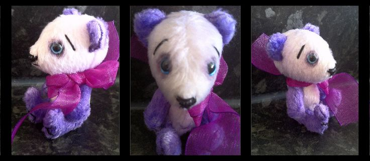 Purple Panda Teddie Bear
