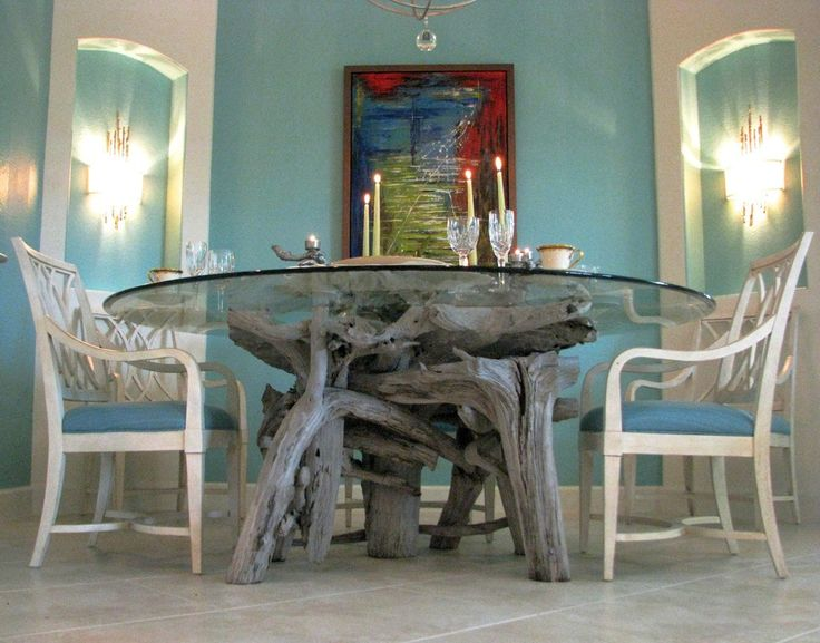 Driftwood Table Driftwood Beach Driftwood Ideas Driftwood Art Table Bases Dining Tables Dining Room Decor Ideas Design Projects