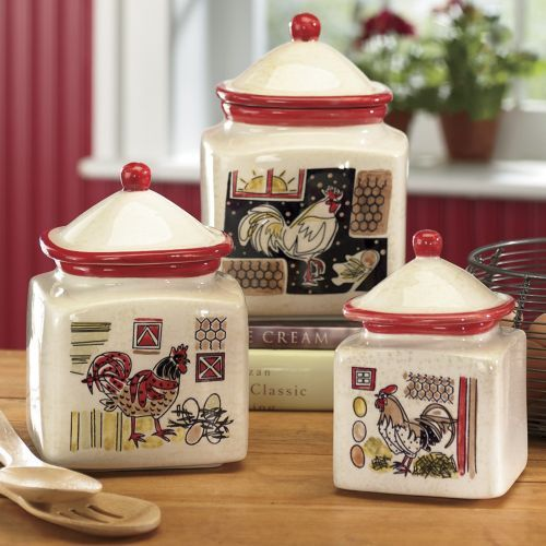 Paisley Rooster Canister Set From Seventh Avenue ®