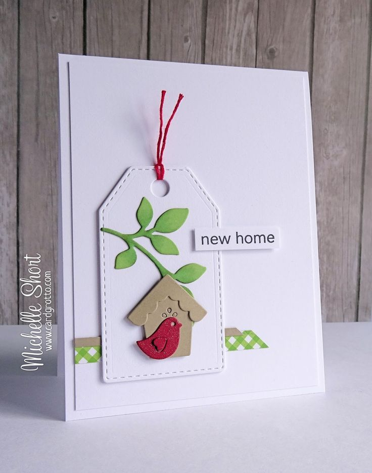 Clearly Besotted A Little Sentimental (sentiment); WPlus9 Folk Art Florals Dies. Paper Smooches Stitched Tag dies. Some washi tape or patterned paper. New Home card.