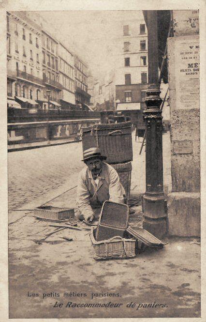 Les petits métiers du Paris d'antan Le raccommodeur de paniers