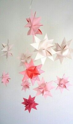 Paper stars - not origami but woven paper strips