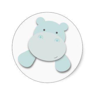 Pequeños pegatinas del hipopótamo el  