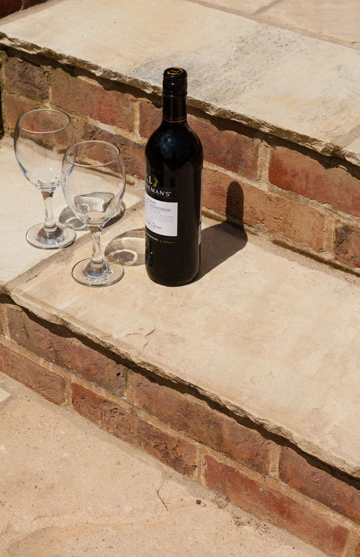 Mint sandstone paving - http://www.dtstone.co.uk/mint-sandstone-patio-paving-stone-calibrated.html