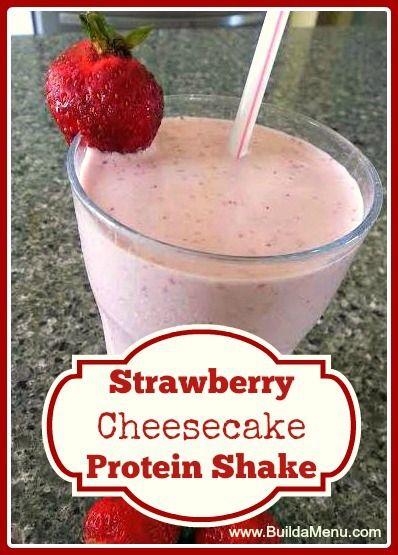 Strawberry Cheesecake Protein Shake