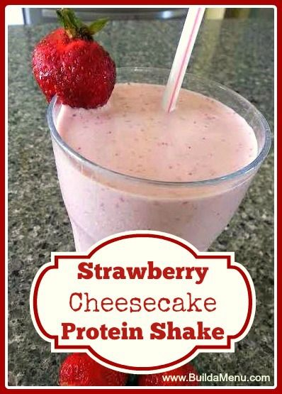 Strawberry Banana Protein Shake for gastric bypass patients.