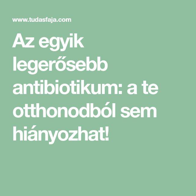Az egyik legerősebb antibiotikum: a te otthonodból sem hiányozhat!