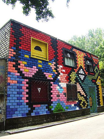 Cool mosaic tile building - 8 BIT on Flickr - Photo Sharing!