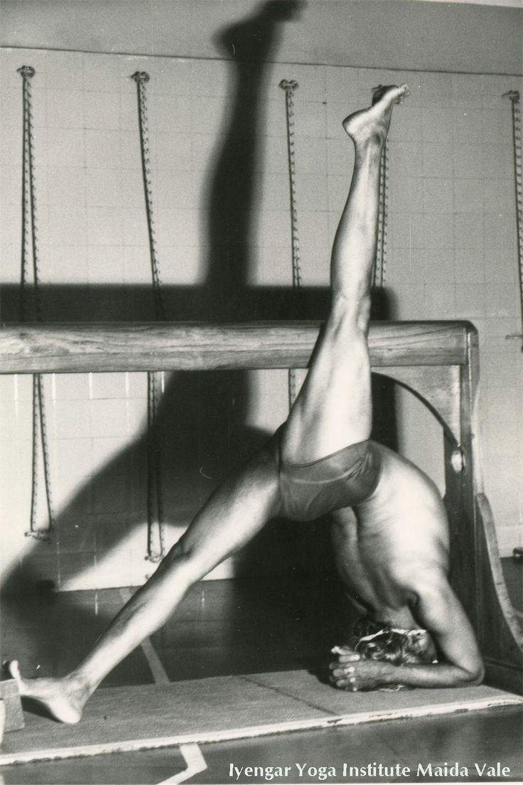 Previously unseen images of BKS Iyengar practising at RIMYI taken by one of his first British students Silvia Prescott