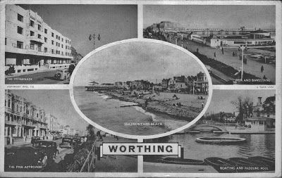 1940s Worthing, West Sussex, England Postcard
