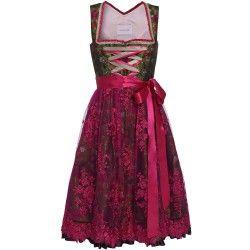 Grünes Dirndl mit zartem Blütendruck von Schmittundschäfer. Zu leihen bei dresscoded.com.#dresscoded
