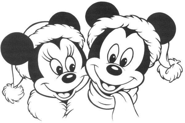 Minnie E Topolino A Natale Disegno Di Natale Da Colorare Disegni