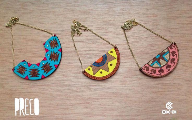 Cocco Color - Nuestra línea Preco!! Cocco inspira su línea Preco... #trendy #cute #fashion #necklace #accesorios #moda #accessories #ring #color #madera #wood #precolombino #preco #cocco #coccocolor #pulsera #precolombian