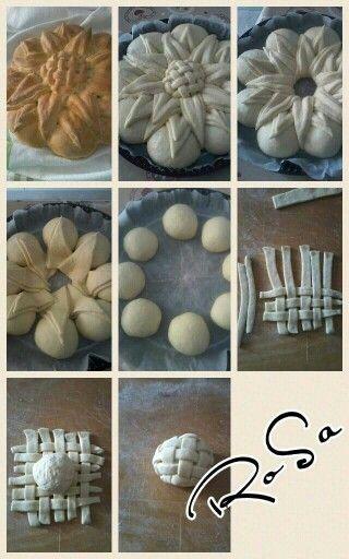 Pane a forma di girasole