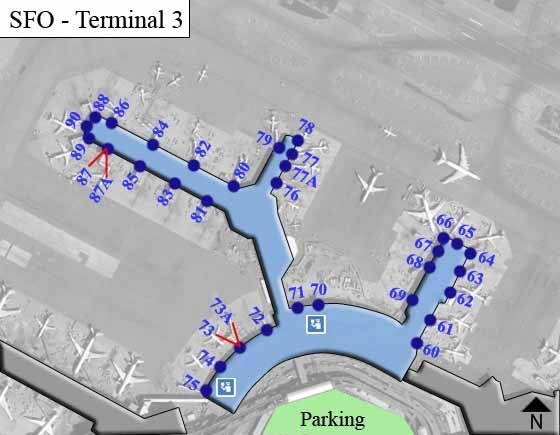san francisco terminal 3 map San Francisco Airport Sfo Terminal 3 Map San Francisco Airport san francisco terminal 3 map