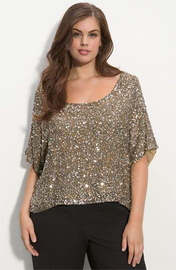 plus size sparkly top good to see that fashion can be for everyone she 39 s got the look. Black Bedroom Furniture Sets. Home Design Ideas