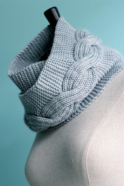 Infinity Scarf Knitting Pattern Garter Stitch : garter stitch and cables... Knitting - Scarf Pinterest ...