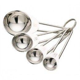 Juego de cuatro cucharas medidoras de acero inoxidable. http://www.ilvo.es/es/product/juego-cucharas-medidoras