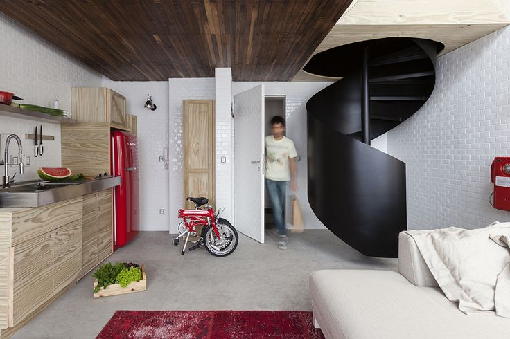 This Spiral Staircase Is Perfect for Micro-Living