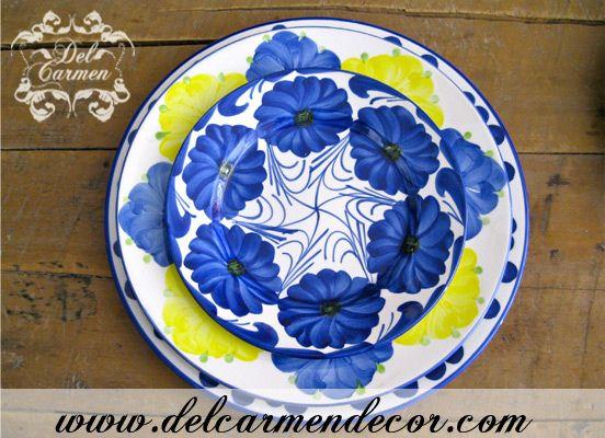 Hermosas vajilla de Carmen de viboral, pintadas a mano y elaboradas artesanalmente, visita nuestra tienda www.delcarmendecor.com