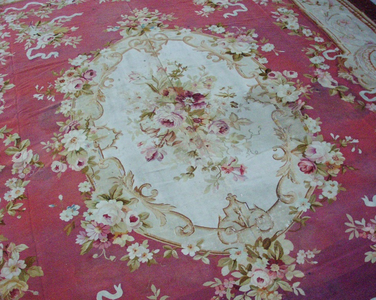 Vintage French Aubusson Rug Old Roses Pinterest