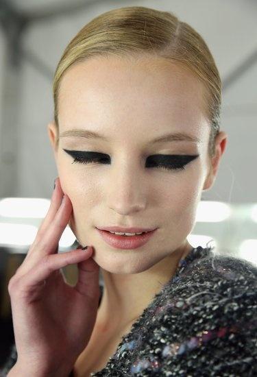 Monique Lhuillier Hair and Makeup | Fashion Week Fall 2013