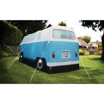 Get ready for some romantic nights roughing it in the VW Camper Tent. It's a full-sized replica of a 1965 VW Camper Van with two zip-separated double size rooms, fly sheet doors and more. AU$355 from Australian Gifts Online.