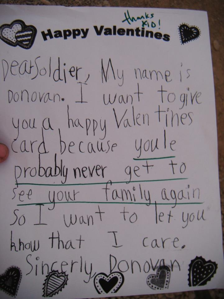 a letter my boyfriend got while he was in afghanlol bless