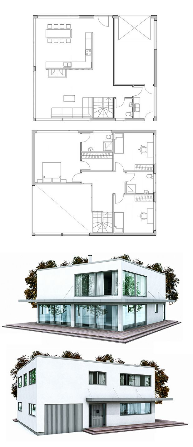 11 best maisons plain pied images on pinterest house for Smallhouse weberhaus